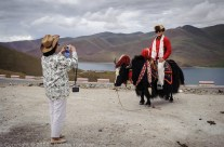 Chinese tourist in Tibet