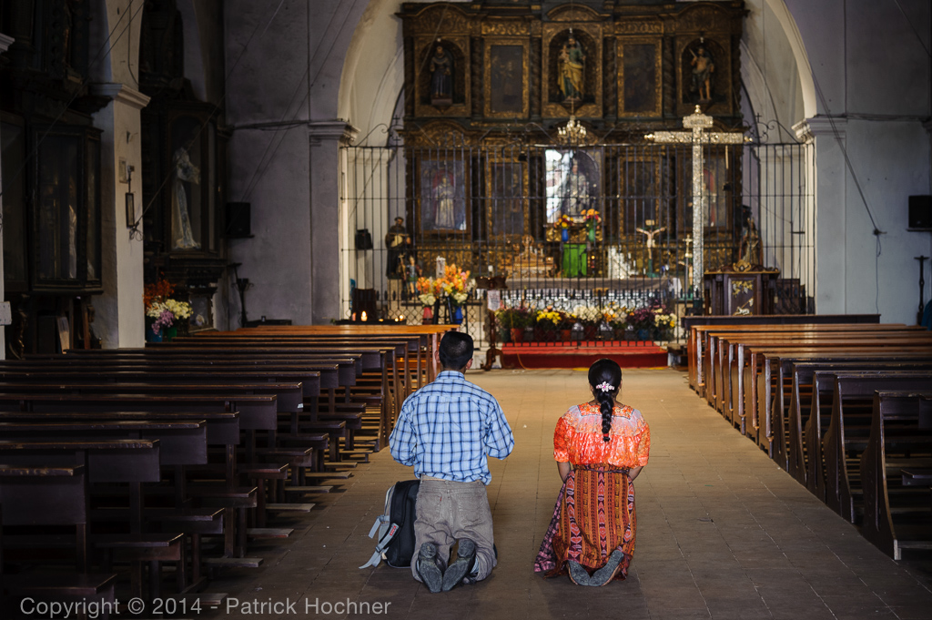 In the church, Zunil, Guatemala