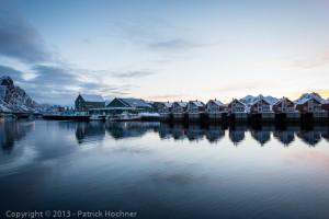 Sun rise in Svolvaer, Lofoten