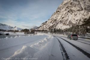 Driving around the Lofoten Island, Norway