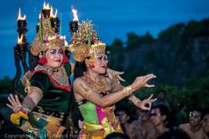 Hindu Ramayana dance at the Uluwatu Temple, Bali