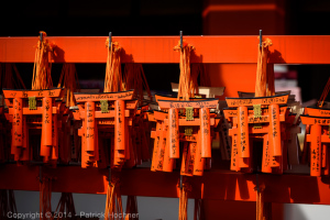 The torii, symbol of the Fushimi Inari Taisha