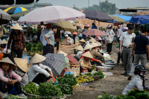 Thai people at the market, Dien Bien Phu