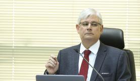 Brasília - O procurador-geral da República, Rodrigo Janot, durante reunião do Conselho Superior do Ministério Público Federal para analisar a proposta de orçamento para 2018 (Marcelo Camargo/Agência Brasil)