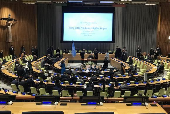 Nova York - Presidente Michel Temer assina o tratado de proibição de armas nucleares