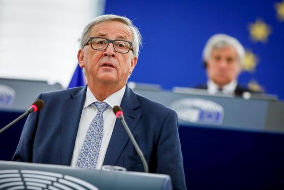 Juncker fala à Eurocâmara em Estrasburgo, na França