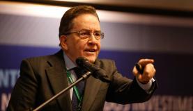 Rio de Janeiro - O presidente do Banco Nacional do Desenvolvimento Econômico e Social (BNDES), Paulo Rabello de Castro, participou do Seminário Internacional Infraestrutura: A engenharia na Retomada dos Investimentos,
