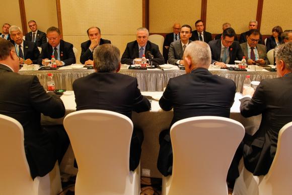 Xiamen (China) - Presidente Michel Temer durante encontro com empresários brasileiros do conselho empresarial do Brics (Beto Barata/PR)
