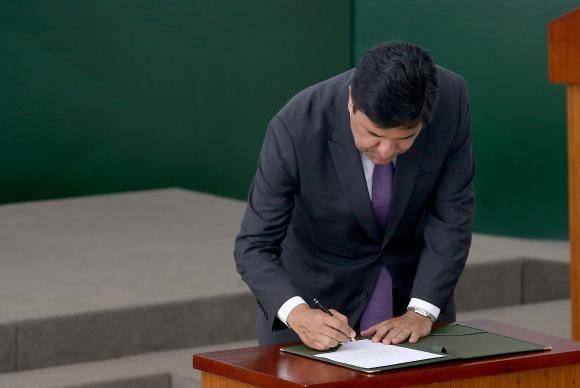 Brasília - O ministro da Educação, Mendonça Filho durante a Cerimônia de Homologação da Base Nacional Comum Curricular (Wilson Dias/Agência Brasil)