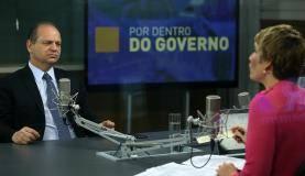 Brasília - O programa Por Dentro do Governo, da TV NBR, entrevista o ministro da saúde, Ricardo Barros (José Cruz/Agência Brasil)