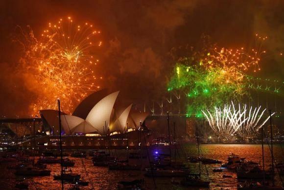 Fogos de artifício em Sydney, na Austrália