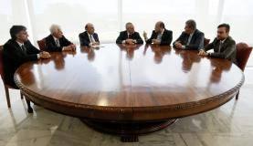 Brasília - Presidente da Republica, Michel Temer, acompanhado de ministros e equipe econômica, comemoram o índice da Inflação de 2017, que é o menor desde 1998 (Beto Barata/PR)