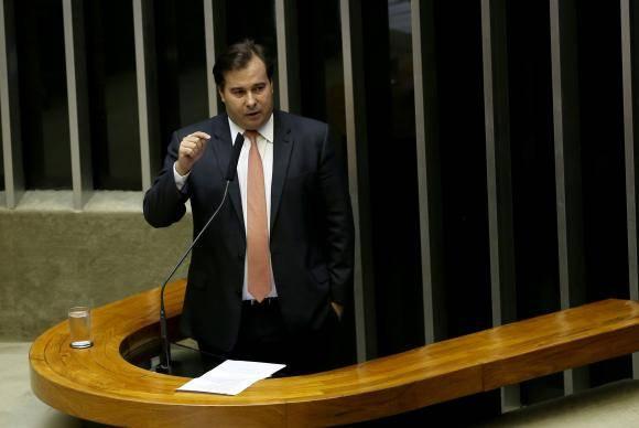 Brasília - O presidente da Câmara dos Deputados, Rodrigo Maia, participa da sessão solene de abertura dos trabalhos do ano legislativo de 2018 (Wilson Dias/Agência Brasil)