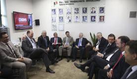 Brasília - Bancada do PTB no congresso se reúne para discutir a situação da deputada Cristiane Brasil, nomeada por Temer para ministra do Trabalho (Wilson Dias/Agência Brasil)