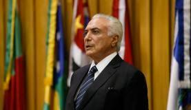Brasília - O presidente Michel Temer participa de sessão solene de posse do presidente do Superior Tribunal do Trabalho, ministro João Batista Brito Pereira (Beto Barata/PR)