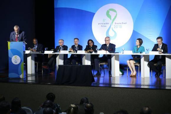 Brasília - Juízes e promotores debatem o tema Direito e Água, durante o 8 Fórum Mundial da Água (Valter Campanato/Agência Brasil)
