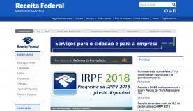 site da Receita Federal (Reprodução)