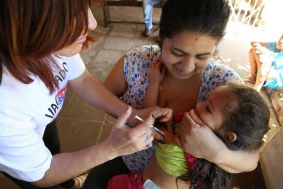 A OMS destaca que o o índice de imunização da segunda dose da vacina contra o sarampo na Europa é de menos de 95%.
