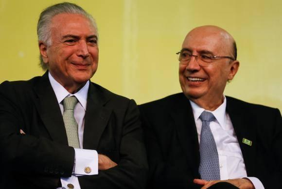 Rio Verde (GO) - O presidente Michel Temer e o ministro da Fazenda, Henrique Meirelles, durante cerimônia de anúncio do custeio antecipado da safra 2018/2019 (Beto Barta/PR)