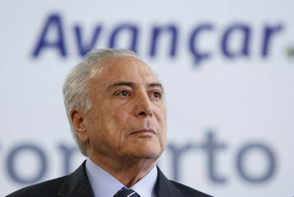 Vitória - Presidente Michel Temer chega para cerimônia de inauguração do novo aeroporto de Vitória, no Espírito Santo (Alan Santos/PR)