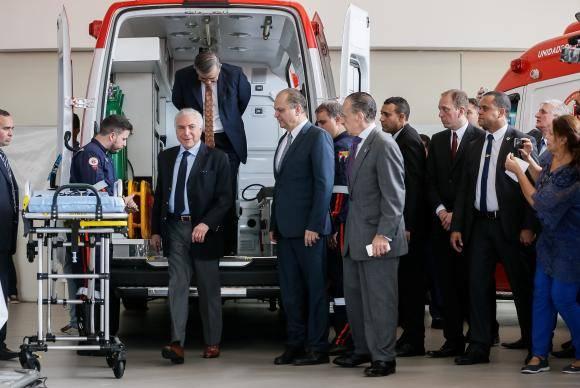 Sorocaba (SP) - O presidente Michel Temer participa da cerimônia de entrega de novas ambulâncias que atenderão ao Serviço de Atendimento Móvel de Urgência (Samu) 192 (Beto Barata/PR)