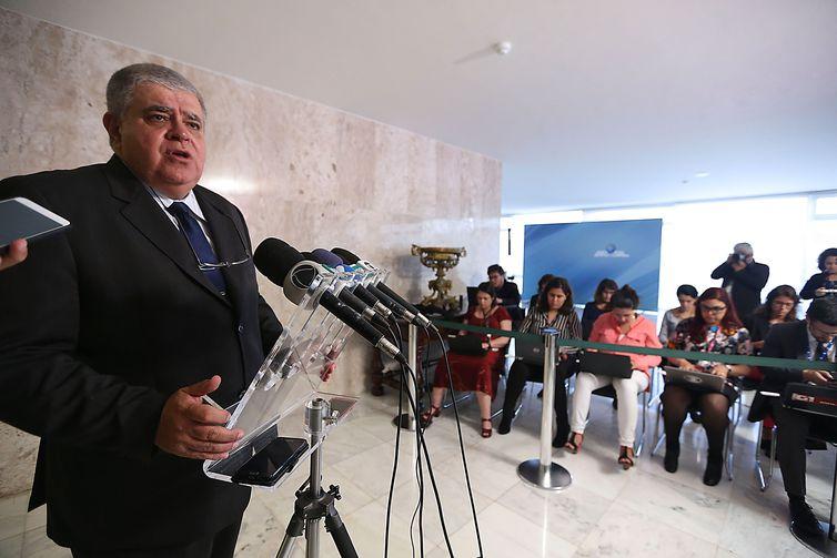 O ministro da Secretaria de Governo, Carlos Marun, durante entrevista no Palácio do Planalto