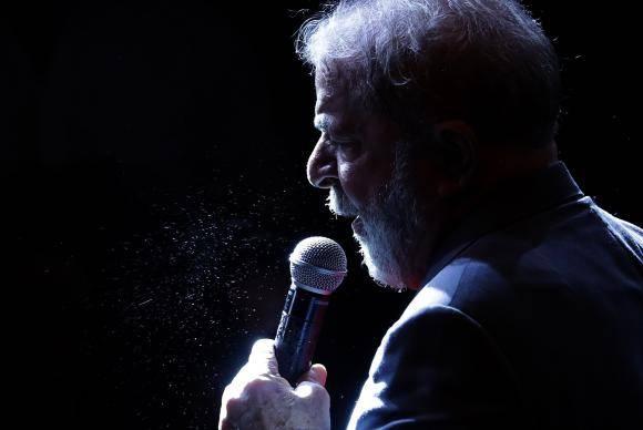 Foto da Agência espanhola EFE mostra Lula durante ato realizado no começo desta semana no Rio