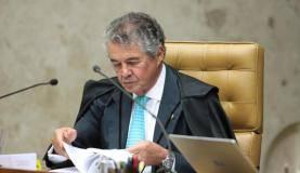 Ministro Marco Aurélio,do STF, durante julgamento de habeas corpus do ex-presidente Lula