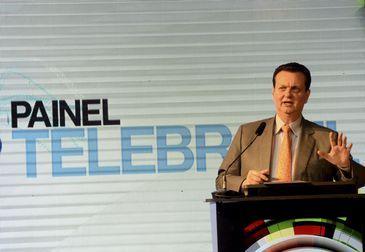 O ministro da Ciência e Tecnologia, Gilberto Kassab participa da abertura do Painel Telebrasil 2018 que vai discutir este ano os rumos da indústria depois de 20 anos da privatização do sistema estatal de telecomunicações.