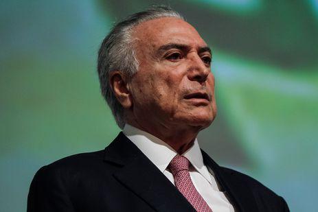 O presidente Michel Temer participa da cerimônia de abertura da APAS Show 2018, em São Paulo.