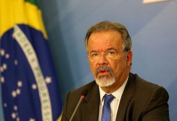 O ministro extraordinário da Segurança Pública, Raul Jungmann, durante entrevista coletiva no Palácio do Planalto.