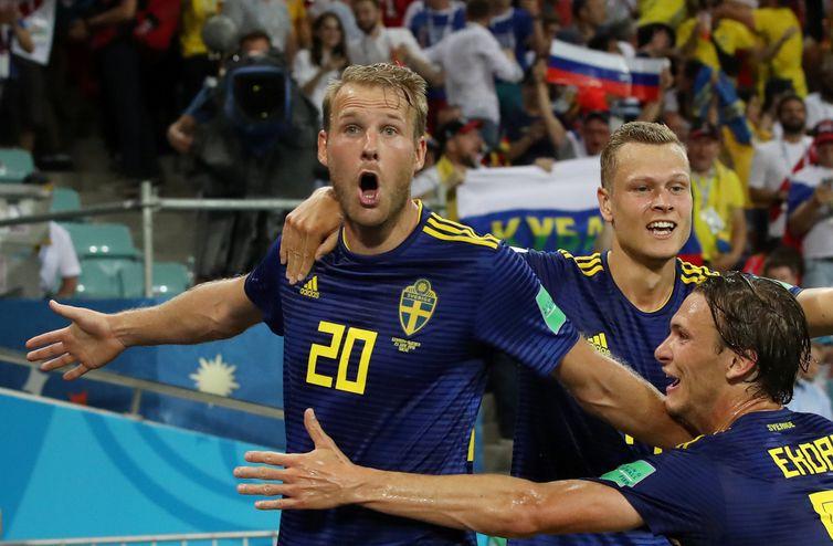 Copa 2018, Alemanha e Suécia, Gol SuéciaREUTERS/Francois Lenoir