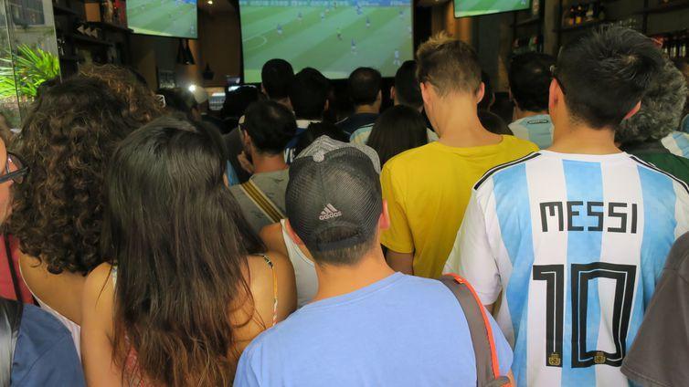 Argentinos acompanham jogo no Rio