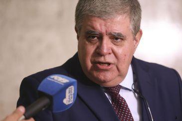 O ministro da Secretaria de Governo da Presidência da República, Carlos Marun, fala à imprensa, no Palácio do Planalto.