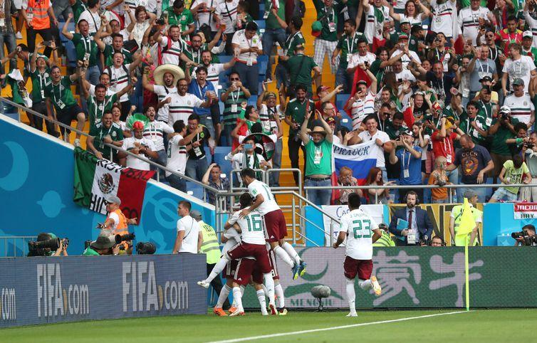 Copa 2018, México e Coréia, Gol México REUTERS/Marko Djurica