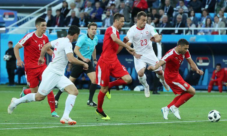 Copa 2018: Sérvia e Suíça.