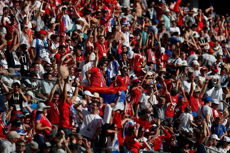 Soccer Football - World Cup - Group G - England vs Panama - Nizhny Novgorod Stadium, Nizhny Novgorod, Russia - June 24, 2018 Panama fans during the match REUTERS/Matthew Childs