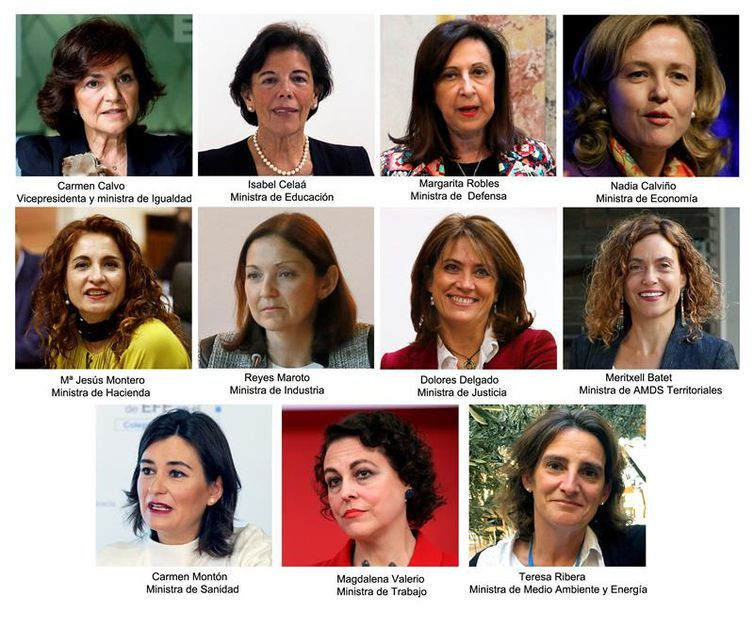 Governo espanhol será composto por 11 mulheres
