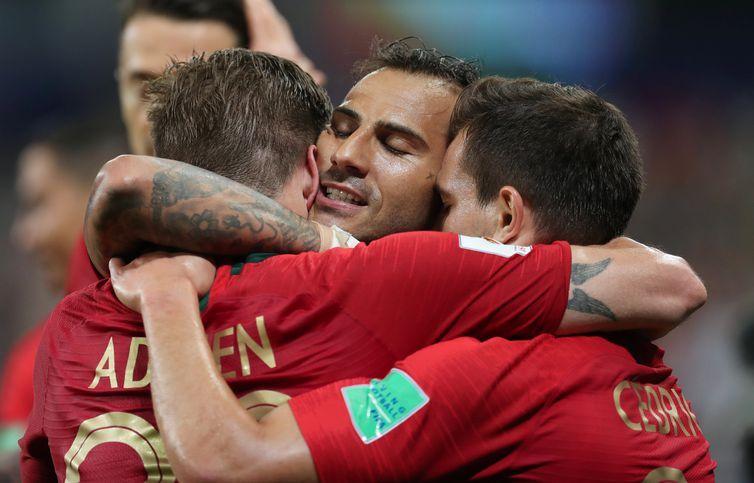 Copa 2018: Irã e Portugal. Comemoração do primeiro gol de Portugal.