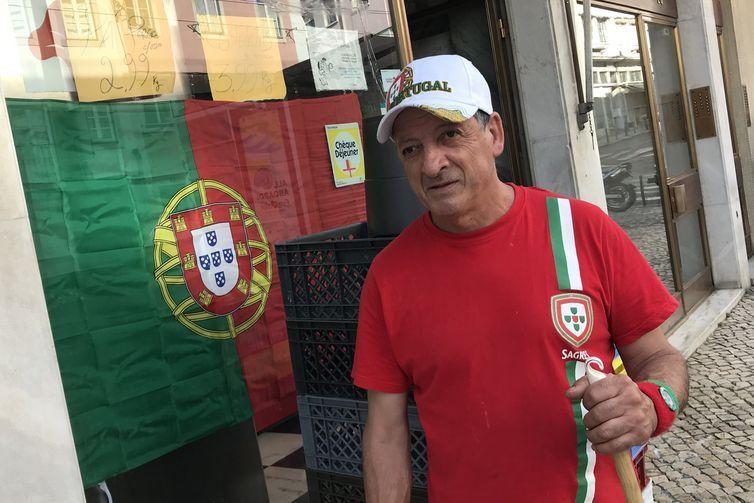 O torcedor português António Coelho