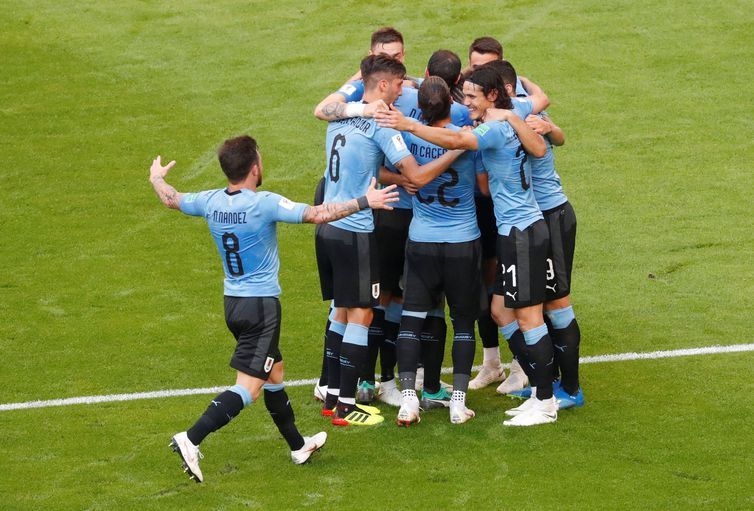 Copa 2018, Uruguai e Rússia, Gol Uruguai REUTERS/David Gray