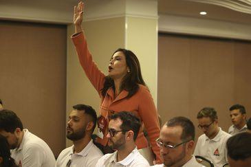 A pré-candidata à Presidência da República do PMN, Jornalista Valeria Monteiro.