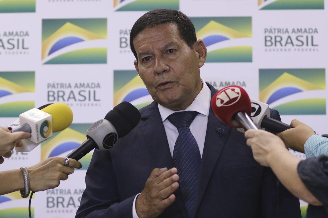 Vice-presidente Mourão em entrevista