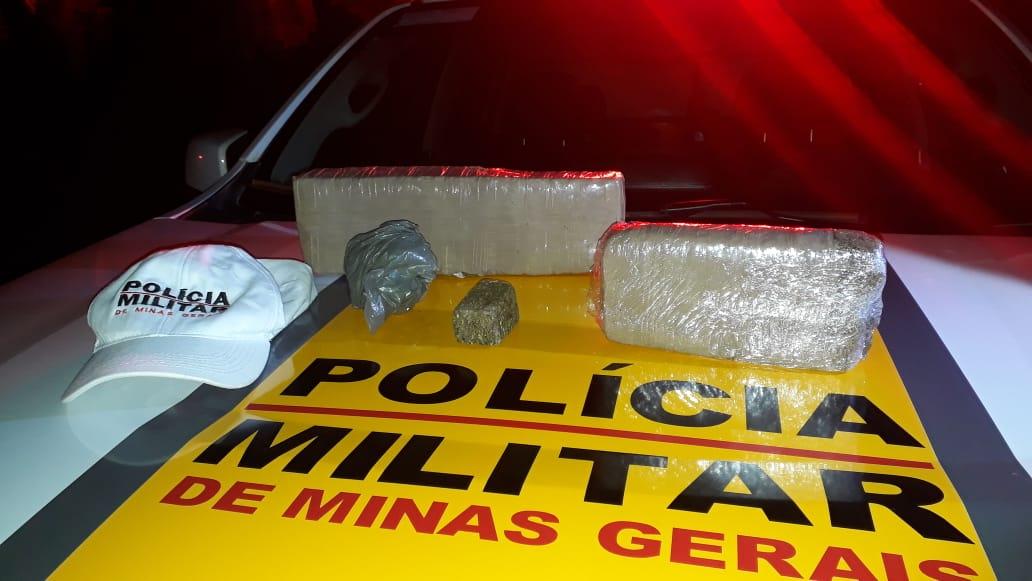 Mais 2 kg de maconha são apreendidos na MG-190 em Monte Carmelo