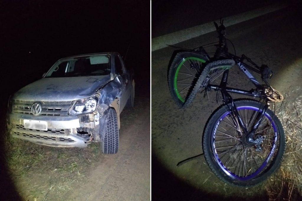 Motorista atropela ciclista durante ultrapassagem na MG-235