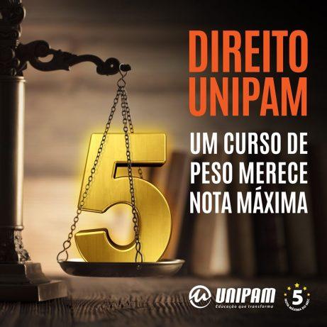 Curso de direito do UNIPAM é nota máxima no ENADE