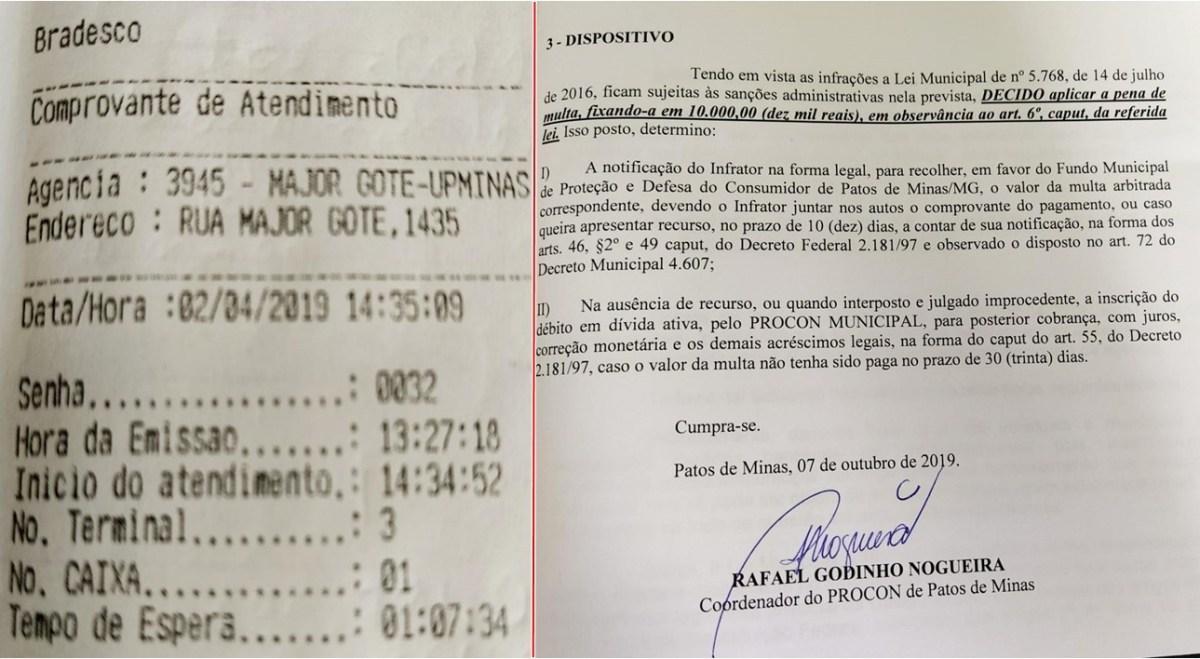 Procon multa agência bancária em Patos de Minas