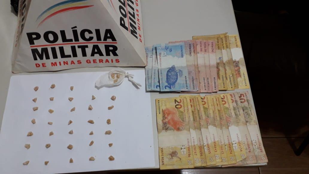 Pedras de crack são apreendidas e suspeitos presos em Monte Carmelo