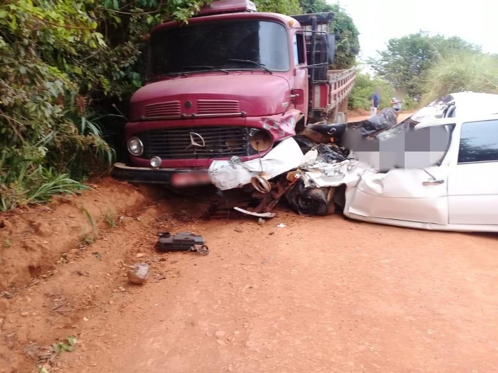 acidente zona rural de Monte Carmelo