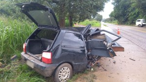 BR 354 - Dois feridos em acidente